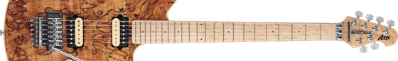 MUSICMANの新しいエレキギター、Axis Spalted Maple