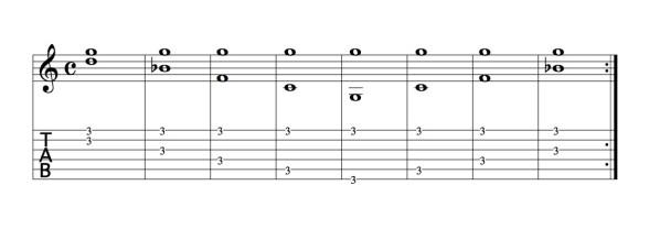 Gの練習パターン