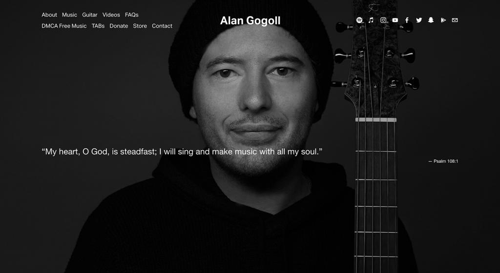 Alan Gogollの公式ホームページ